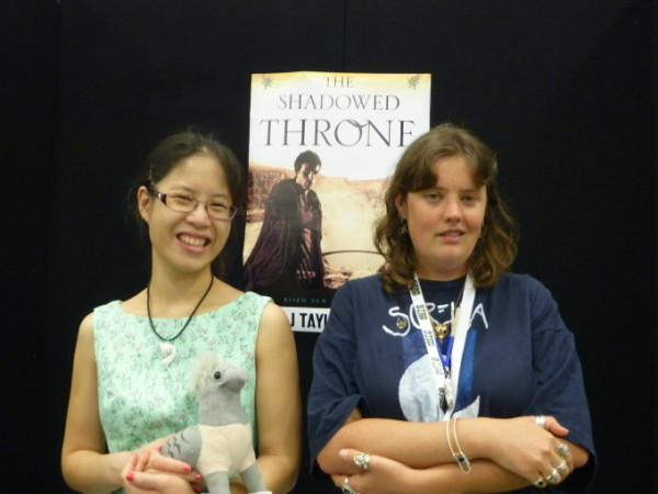 Jade looking good and me looking awkwardly self-satisfied at the Adelaide ComicCon (I swear it wasn't on purpose!)